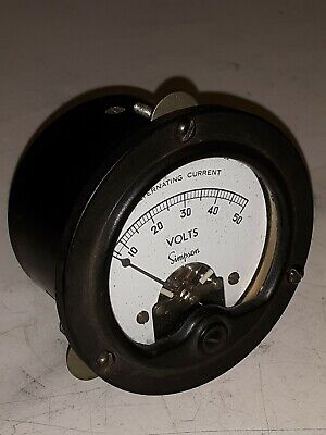 Vintage Simpson Model 55 Alternating Current 50 Volt Meter