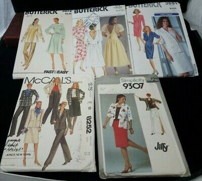 Vintage 1980s Sewing Patterns Assorted Uncut Women Simplicity McCalls Butterick