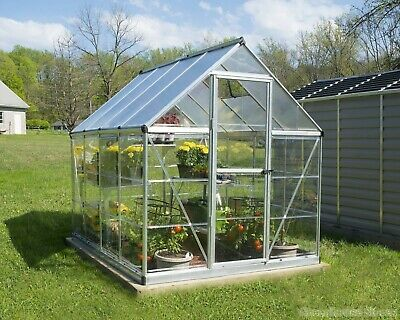 PALRAM HYBRID GARDEN SILVER GREENHOUSE POLYCARBONATE 8ft x 6ft