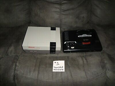 BUNDLE of NES Nintendo Entertainment System  SEGA Genesis TESTED CONSOLE ONLY