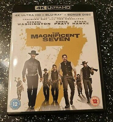 Magnificent  Seven 4k UHD + Atmos  Sound + Slipcover Used