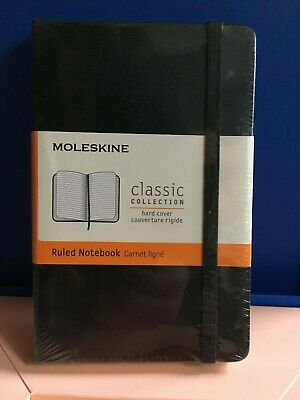 Moleskine Black Classic Ruled Notebook HARDBACK - New - Sealed  - Pocket Size