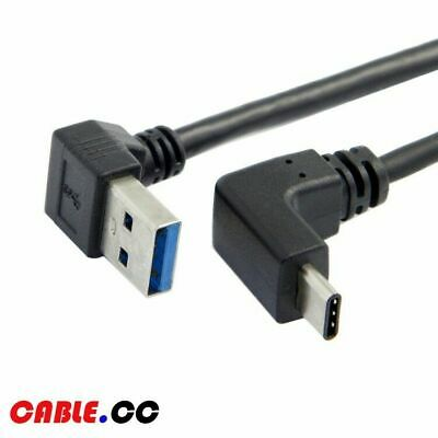Cablecc 1.0m USB 3.1 USB-C Up Down Angled to 90D Down Angled A Male Data Cable