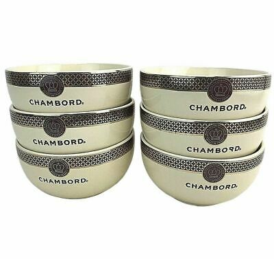 Set of 6 Chambord Black Raspberry Liqueur Royale Ice Cream Dessert Bowls France