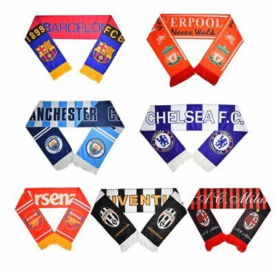 Football Club Soccer Scarf Neckerchief Real Madrid, Barcelona, Liverpool, etc.