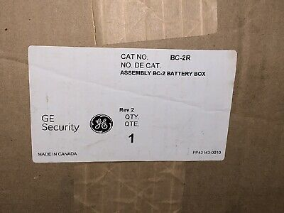 Red GE SECURITY BC-2R Battery Cabinet