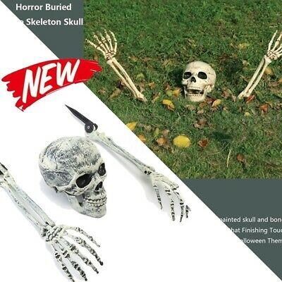 Halloween Scary Horror Skeleton Decorations Head Bones Skull Hand Outdoor Indoor