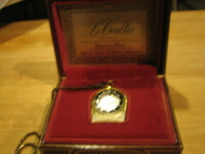 JAEGER LeCOULTRE Memovox Alarm Travel Pocket Watch K814  W/ Box all papers