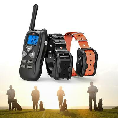 Dog Shock Collar With Remote Waterproof Electric For Large 880 Yard Pet Tra