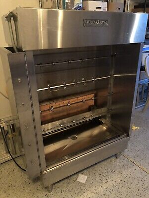 American Range ACB-4 Gas 4-Spit Commercial LP 20 Chicken Rotisserie Oven