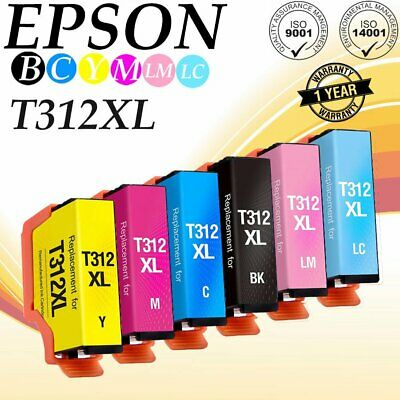 6pk Remanufactured for Epson 312XL 314XL High CMYK LC LM Ink for XP-15000