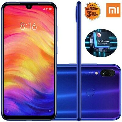 "Global Xiaomi Redmi Note 7 6.3"" 4G Smartphone Android 9.0 4+64GB 48MP 2*SIM AZUL"
