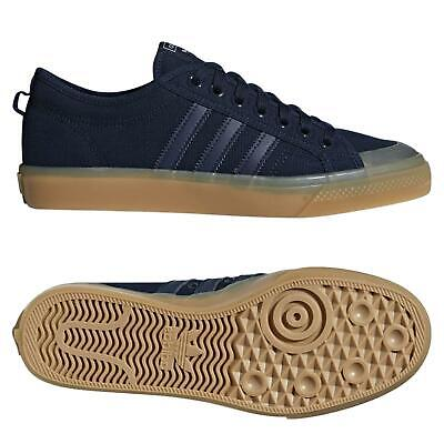 adidas ORIGINALS NIZZA LOW CANVAS SHOES NAVY SKATEBOARDING TRAINERS SNEAKERS