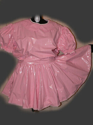 R14*Adult Baby Sissy pvc dress Kleid