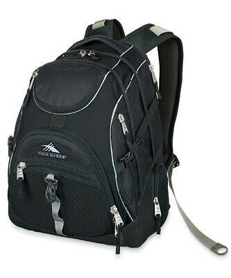"""46L High Sierra Access 17"""" Laptop Backpack Travel Sports Luggage Black Navy Blue"""
