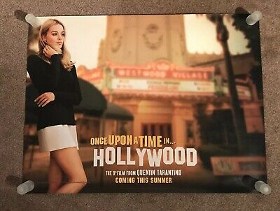 Once Upon A Time In Hollywood Orginal Cinema Quad Poster New Condition