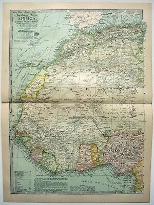 Original 1902 Map of Northwestern Africa by The Century Company