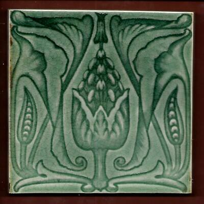 Antique Floral Art Nouveau Tile C1900