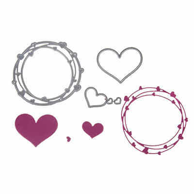 4pcs Love Ring Design Metal Cutting Dies For DIY Scrapbooking Album Paper CaSC