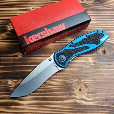 Kershaw 1670NBSW Blur Blue Handle 14C28N Plain Edge Assisted Open Knife New