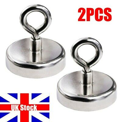 34kg Pull Salvage Strong Recovery Magnet Fishing Treasure Neodymium Durable Hook