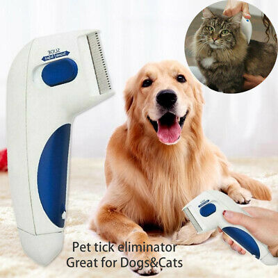 Electric Flea Comb Removal Pet Dog/Cats Head Lice Kill Cleaner Brushes Anti Tick