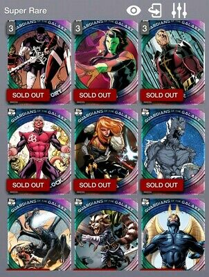 Topps Marvel Collect Digital Trader 1st Print Guardians of the Galaxy Bundle x15