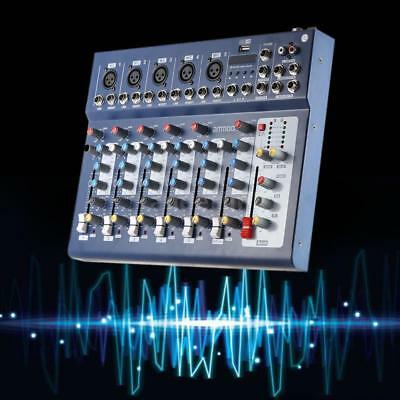New F7-USB 7-Channel Mixer Console with USB Interface for DJ Stage Recording