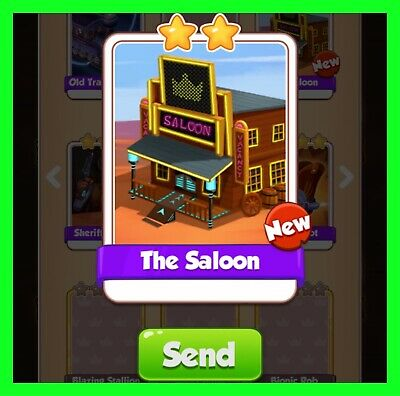 The Saloon NEW Coin Master Card Cyber Cowboys Set (Fastest Delivery)