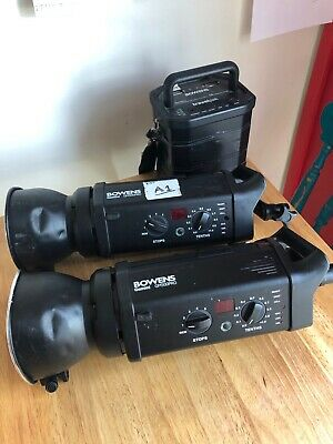x2 Bowens Gemini GM500PRO PLUS Battery pack lead and charger