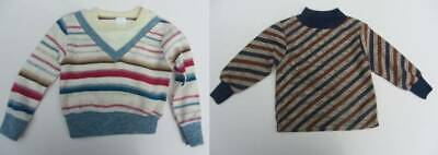 age 18 months vintage striped tops 70's long sleeved