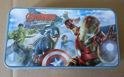 "Avengers Age of Ultron tin pencil case 6 1/2 "" long"