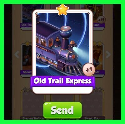 Old Trail Express NEW Coin Master Card Cyber Cowboys Set (Fastest Delivery )