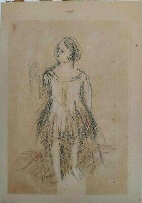 drawing painting signed Original Impressionist 19th century Degas Renoir PICASSO