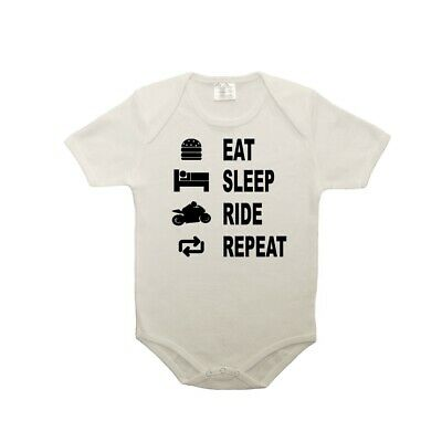 Body bébé 100% coton eat sleep moto