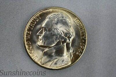 FREE SHIPPING **L@@K! 1945 S SILVER JEFFERSON WAR NICKEL UNCIRCULATED LUSTER