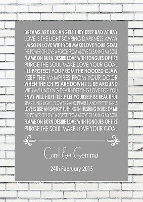 THE POWER OF LOVE - GABRIELLE APLIN Song Personalised First Dance Lyrics Wedding