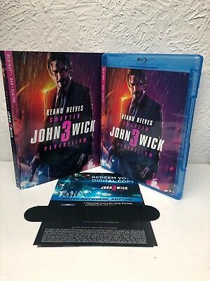 John Wick Chapter 3 Parabellum Blu Ray + Digital HD (NO DVD INCLUDED) READ!
