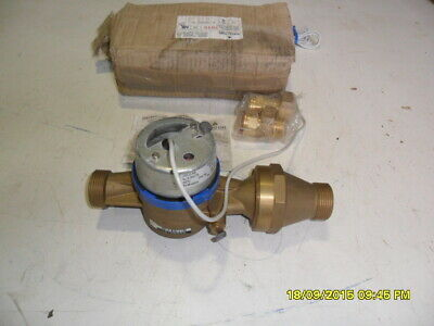 F81) Apator Water Meter Js3 5-Nk New In Tatty Box With Fittings & Instructions