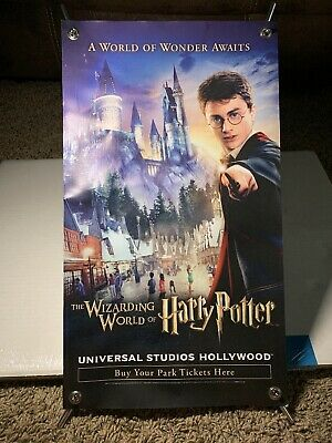 Universal Studios Hollywood Harry Potter Promotional Poster With Stand