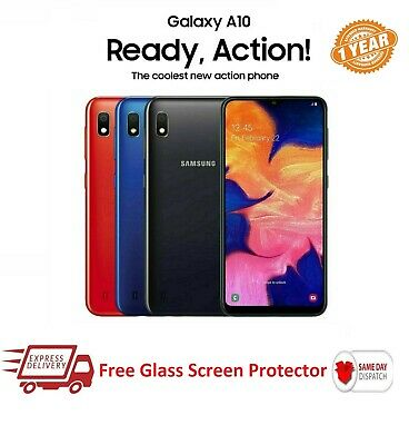 Samsung Galaxy A10 2019 a10 32GB Dual SIM 4G LTE Android phone (Blue Black Red)