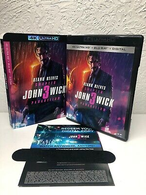 JOHN WICK CHAPTER 3 PARABELLUM 4K Disc + Digital HD (NO BLU RAY INCLUDED) Read