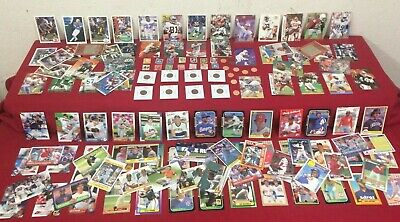 Junk Drawer Lot of Collectibles, Coins, Baseball/Football Cards & Misc  #T10G