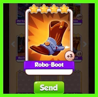 Robo-boot Rarest NEW Coin Master Card Cyber Cowboys Set (Fastest Delivery)