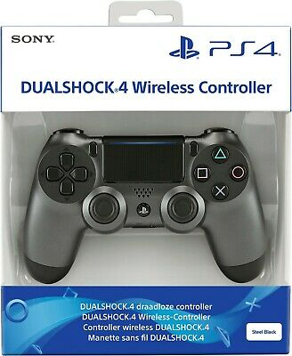 Joypad Dualshock 4 Sony Steel Black v2  PS4