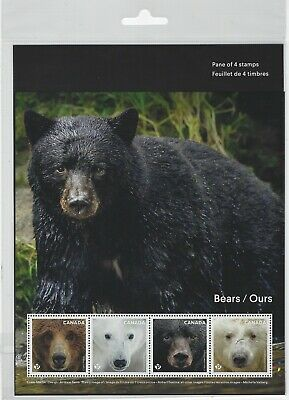 Canada - 2019 Bears Pane Of 4 Stamps In Sealed Packet