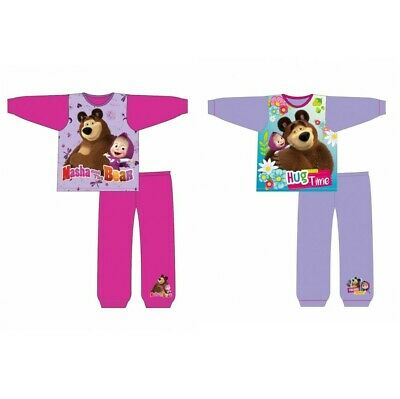 Girls Official Masha and the Bear Long Pyjamas Pjs Gift Age 1-5 Years