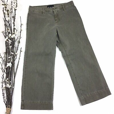 Sanctuary Women Size 29 Olive Green Flare Cropped Crop Pants 4B
