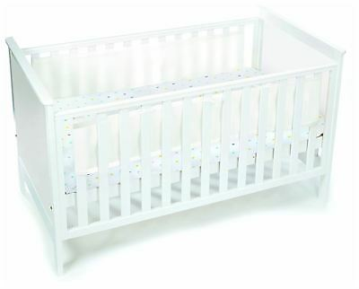 Breathable Baby MESH COT/COTBED LINER 2 SIDED - WHITE MIST Baby Child BN