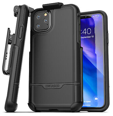 iPhone 11 Pro Max Belt Clip Holster Case Full Body Rugged Cover w/ Holder Black